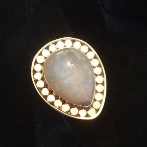 Wow ! Genuine Blue Moonstone Ring